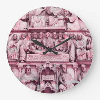 Historical, Christian sculptures Notre Dame Paris Large Clock