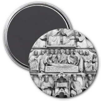 Historical, Christian Sculptures Notre Dame Paris Magnet