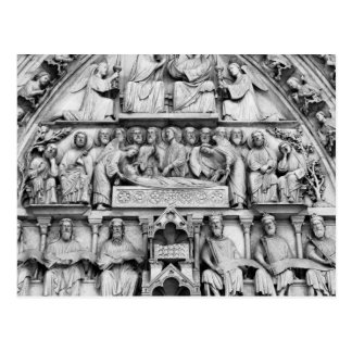Historical, Christian Sculptures Notre Dame Paris Postcard