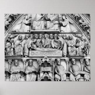 Historical, Christian Sculptures Notre Dame Paris Poster
