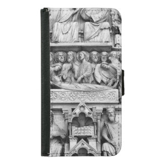 Historical, Christian Sculptures Notre Dame Paris Samsung Galaxy S5 Wallet Case