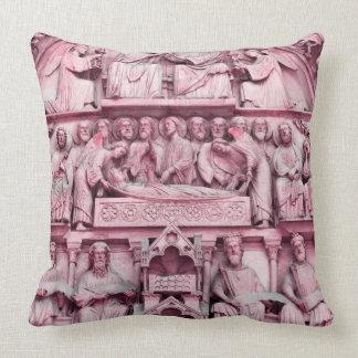 Historical, Christian sculptures Notre Dame Paris Throw Pillow