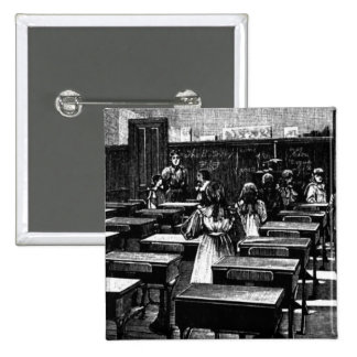 Historical Classroom Picture 2 Inch Square Button