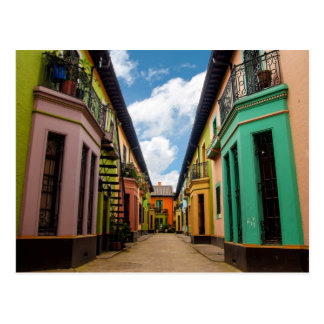 Historical colorful buildings postcard