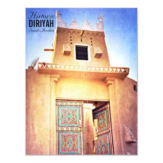Historical Diriyah Riyadh Saudi Arabia Vintage Magnetic Invitations