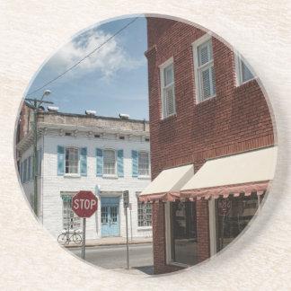 Historical Downtown Savannah Georgia Beverage Coaster