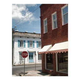 Historical Downtown Savannah Georgia Customized Letterhead