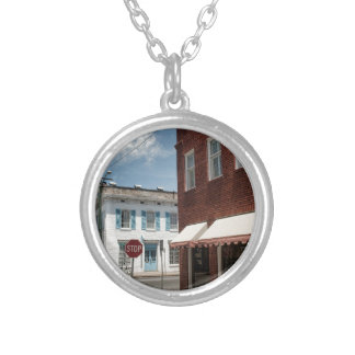 Historical Downtown Savannah Georgia Silver Plated Necklace