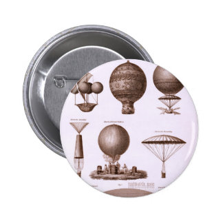 Historical Hot Air Balloon Designs 2 Inch Round Button