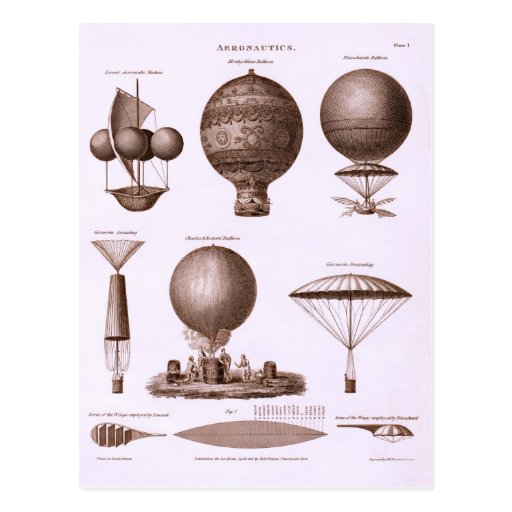 Historical Hot Air Balloon Designs Post Card