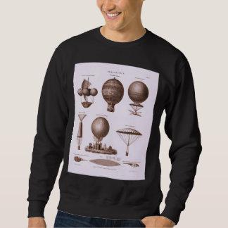 Historical Hot Air Balloon Designs Vintage Image Sweatshirt