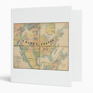 Historical Military Map of the United States 1890 Binder
