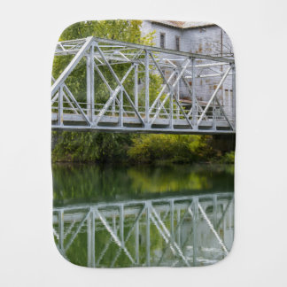 Historical Mill And Bridge Ozark Burp Cloth