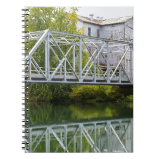 Historical Mill And Bridge Ozark Notebook