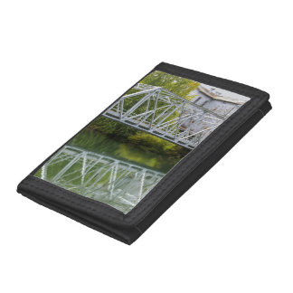 Historical Mill And Bridge Ozark Trifold Wallets