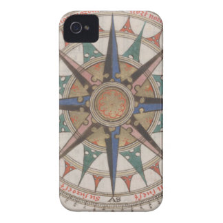 Historical Nautical Compass (1543) Case-Mate iPhone 4 Cases