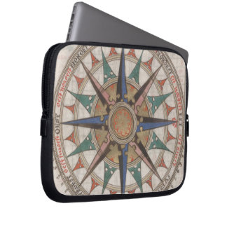 Historical Nautical Compass (1543) Laptop Sleeve