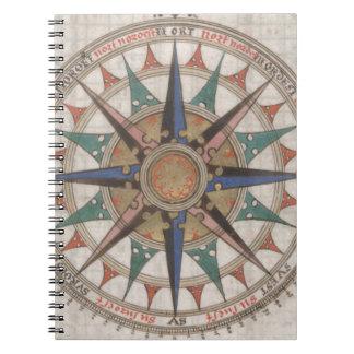 Historical Nautical Compass (1543) Notebooks