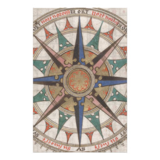 Historical Nautical Compass (1543) Stationery