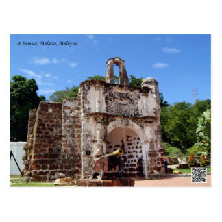 Historical place in Malaysia (A Famosa) Postcard