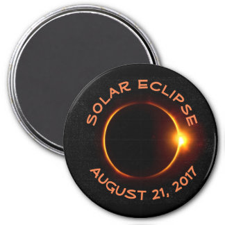 Historical Solar Eclipse 2017 Round Magnet