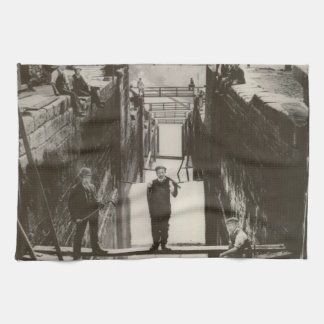 Historical UK Inland Waterways Canal Bingley Locks Kitchen Towel