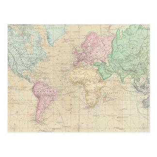 Historical World Map 2 Postcard