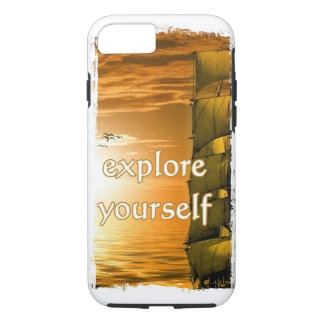 historical world map explore yourself iPhone 8/7 case
