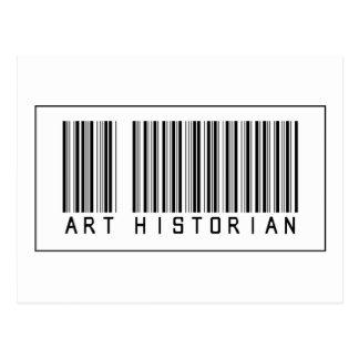 Historien d'art de code barres carte postale