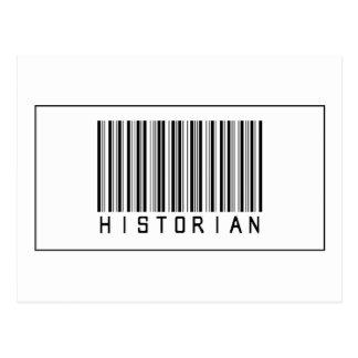 Historien de code barres cartes postales
