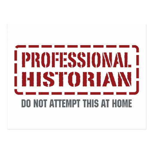 Historien professionnel carte postale
