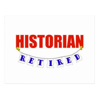 HISTORIEN RETRAITÉ CARTE POSTALE