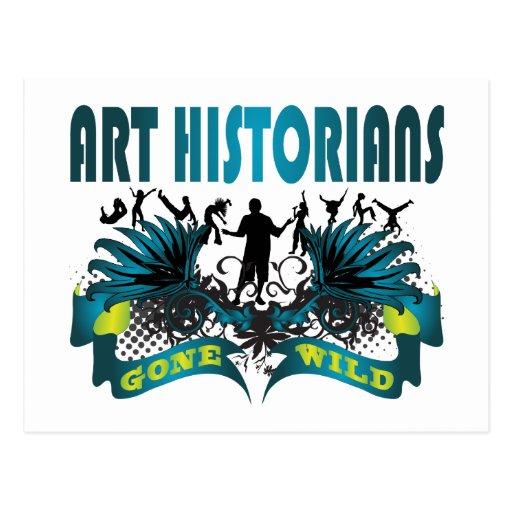 Historiens d'art fous cartes postales