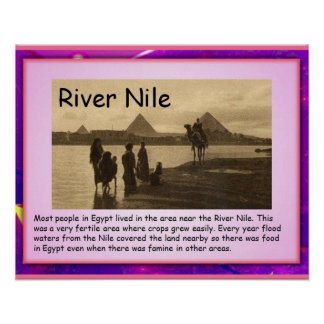 History, Ancient Egypt River Nile Poster
