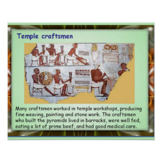History, Ancient Egypt, Temple craftsmen Poster