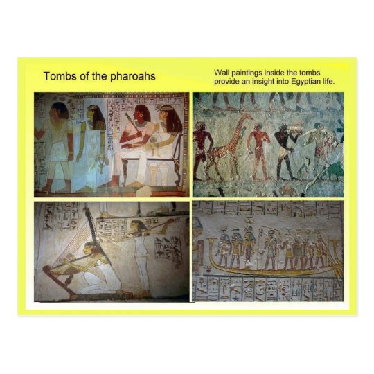 History, Ancient Egypt, Tombs of the Pharoahs Postcard