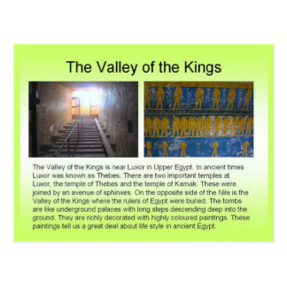 History, Ancient Egypt, Valley of the Kings Postcard