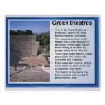 History, ancient Greece, Theatres Poster