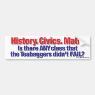 HIstory. Civics. Math. Bumper Sticker