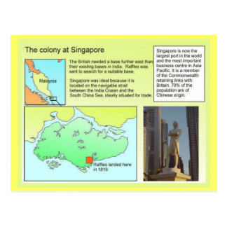 History,  Colony at Singapore Postcard