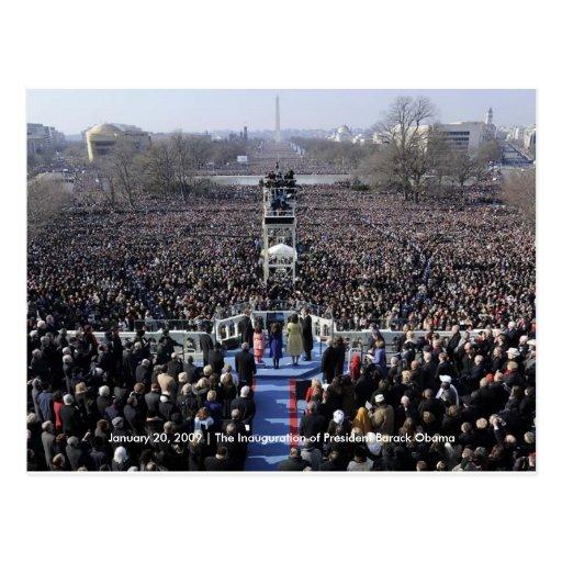 HISTORY: Crowd at Obama's Inauguration Postcard