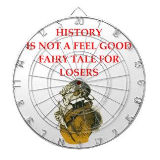 HISTORY DARTBOARD WITH DARTS