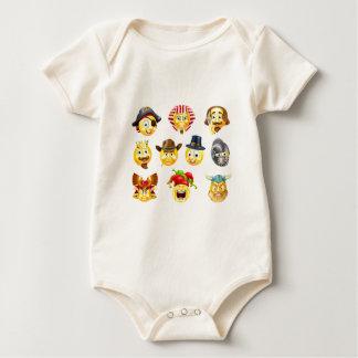 History Emoji Emoticon Set Baby Bodysuit
