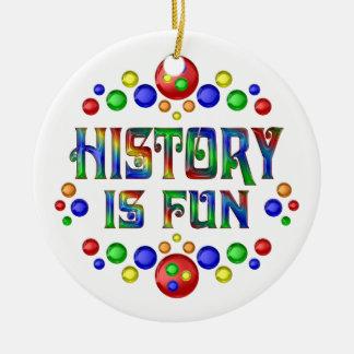 History is Fun Round Ceramic Ornament