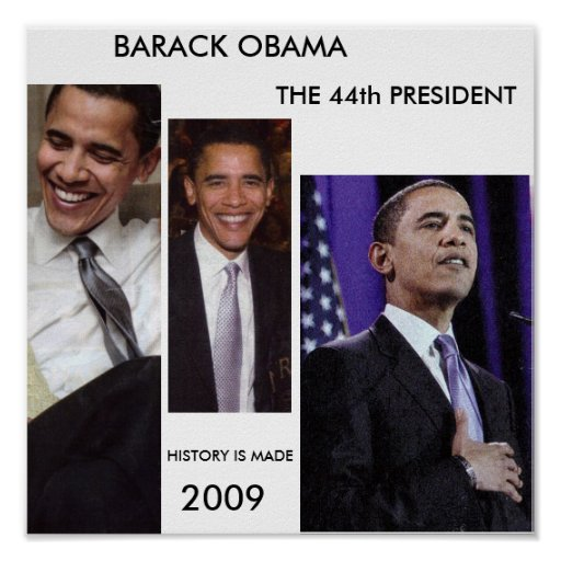 HISTORY IS MADE BARACK OBAMA POSTER