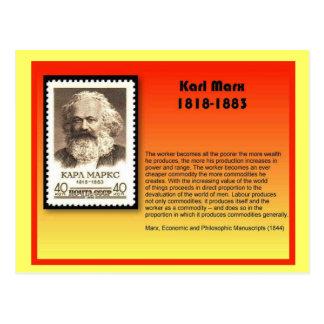 History, Karl Marx Postcard