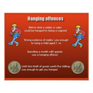 History, Law,Crime,  Hanging Offences Poster
