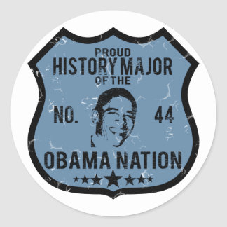 History Major Obama Nation Classic Round Sticker