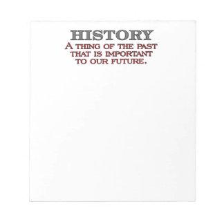 History Notepad