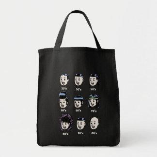 History of Mens Hair Grocery Tote Bag